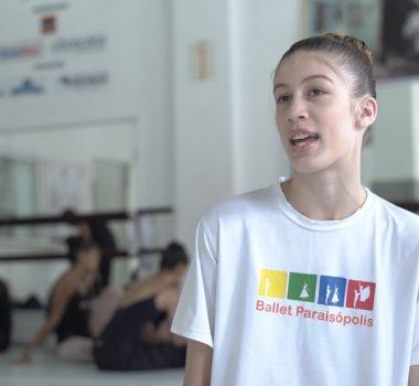 Ballet Paraisópolis - aluna Mariana Souza Farias