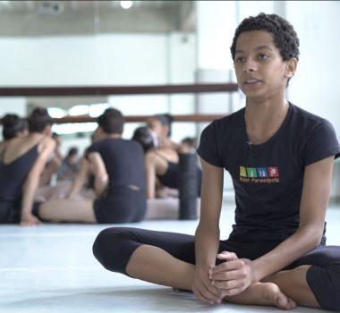 Ballet Paraisópolis - aluno Luiz Fabiano Lima Dias